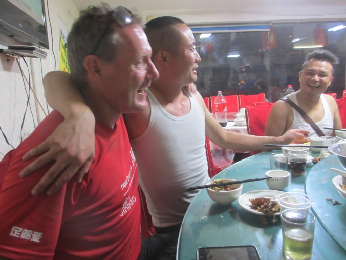 Bai Jiu and beer with friends in China