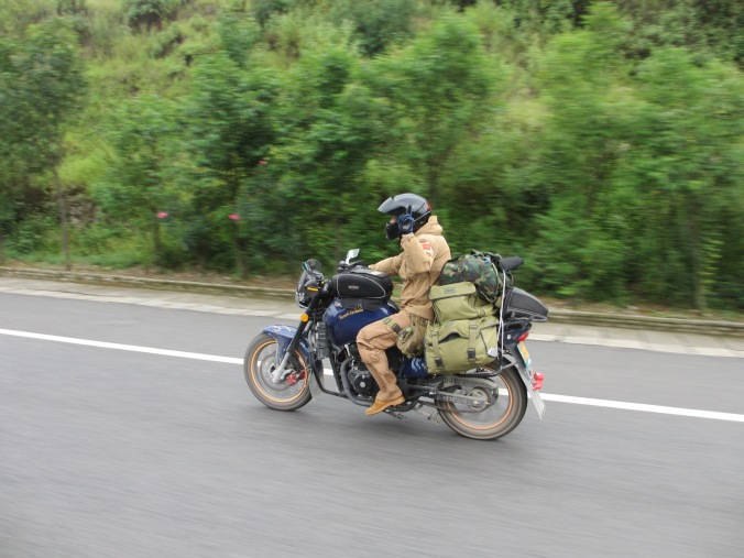 Off he goes... solo to Tibet on a rather ropey bike. He had fixed it many times but still kept breaking down.