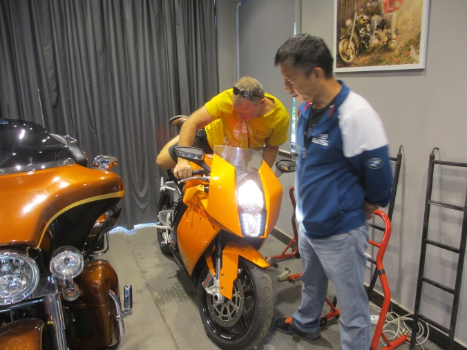 Friends and KTM RC8s in Kunming