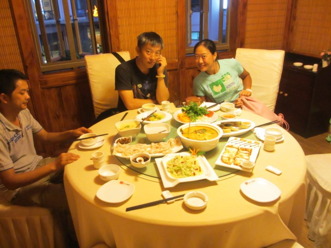 More food ... our kind host in Kunming