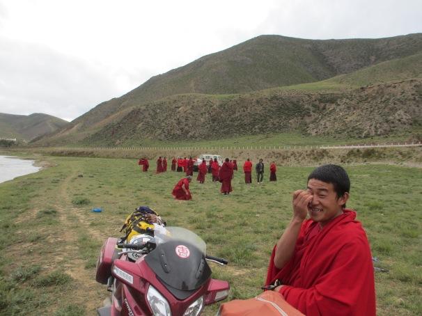 Tibet with lamas