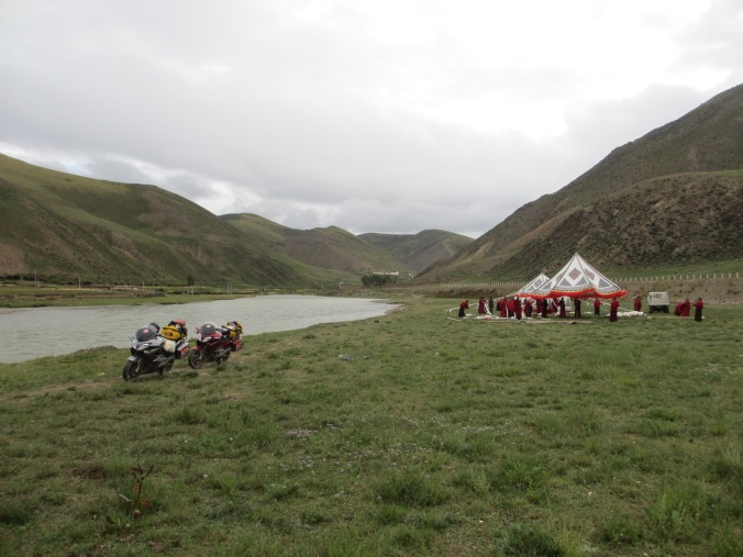 We were made very welcome at 4,700 meters in middle of Tibet