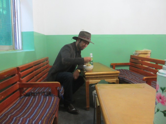 Tibetan guy in a tea shop in Lhasa.