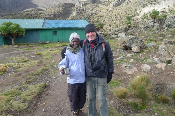 Rupert and Joseph Waweru (chief guide) on Mount Kenya. Great expedition.. great people.