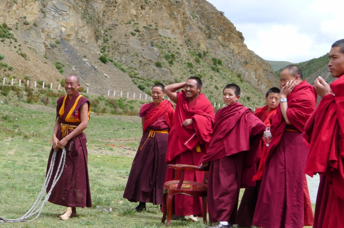 New friends high up in Tibet ...Lots of laughter... Lovely people.