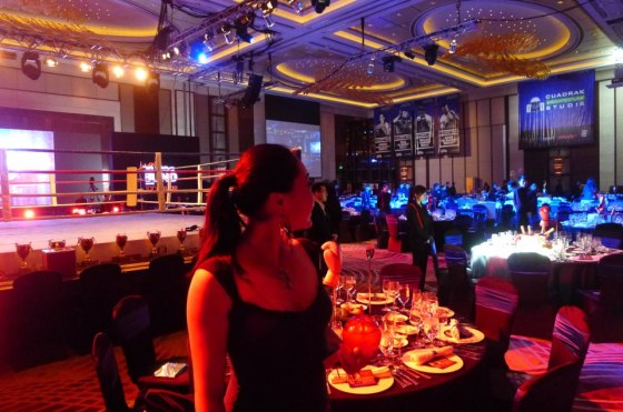 Fanny looking lovely at Shanghai boxing charity event