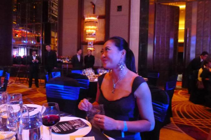 Fanny at charity boxing dinner in Shanghai.