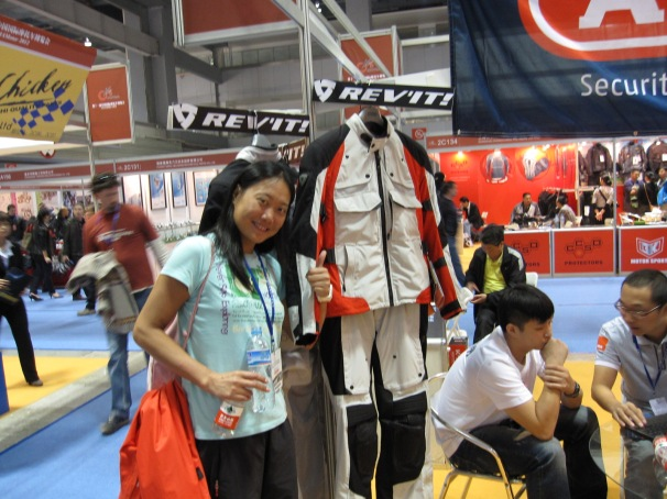 Fanny and our kind sponsor, Louis from Beijing Motoway who supplied our superb Rev'It kit. www.527motor.com.cn