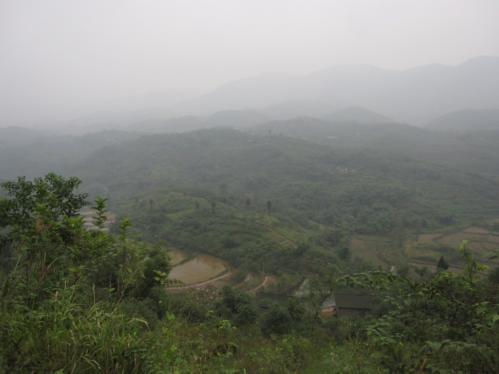 Within half an hour of leaving the highway we were in rural Chongqing