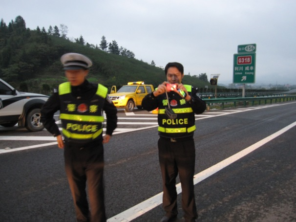 Police in China ... most good.. some not so.... these were nice guys in Anhui