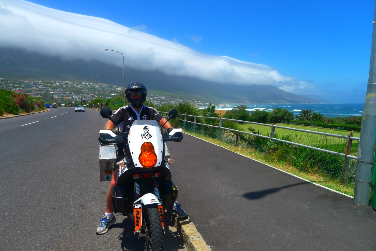 Riding around Cape Town with Fanny