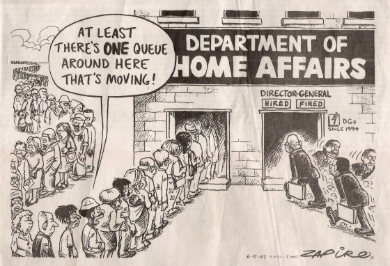 caricature - DEPARTMENT OF HOME AFFAIRS