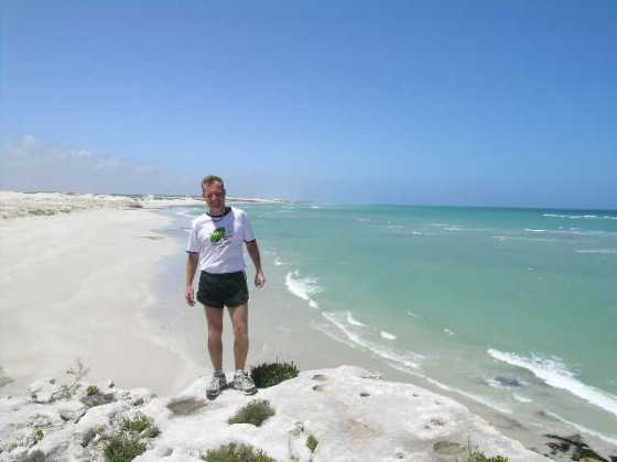 Runs along the beach