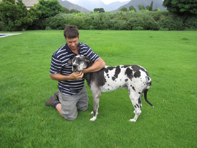 My good friend and neighbour Francois Botha + dawg