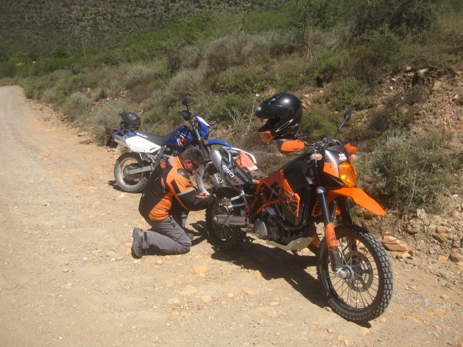 Top bike ... A KTM 950 Super Enduro... and these guys could ride them. Difficult to keep up.