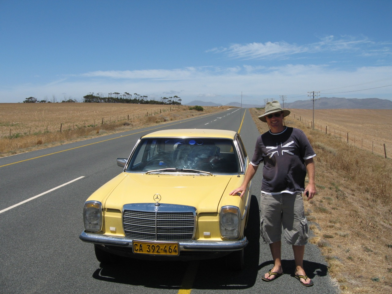 Me with the Yellow Peril on road to Arniston