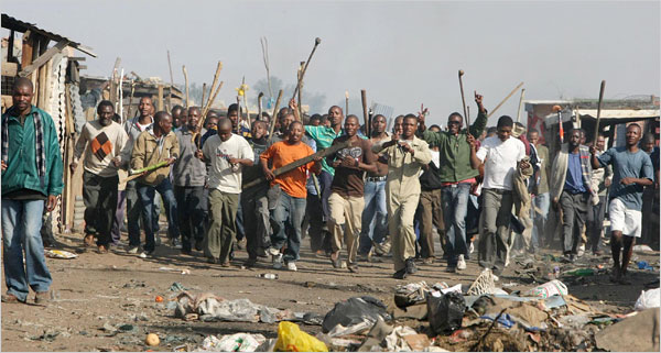 Protest in one of Joburg's townships