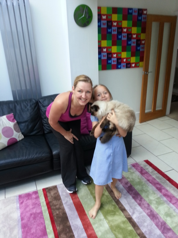 Talking of Utleys.. the former Miss Utley ... Rachel and my niece, Jessie. And Bear the cat