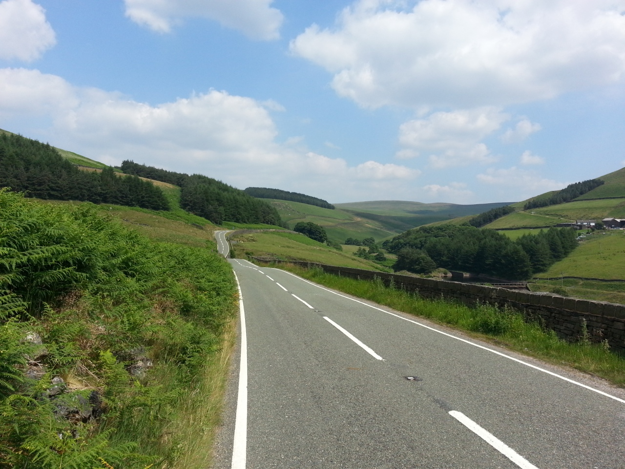 Derbyshire into Yorkshire... beautiful roads and stunning scenery.