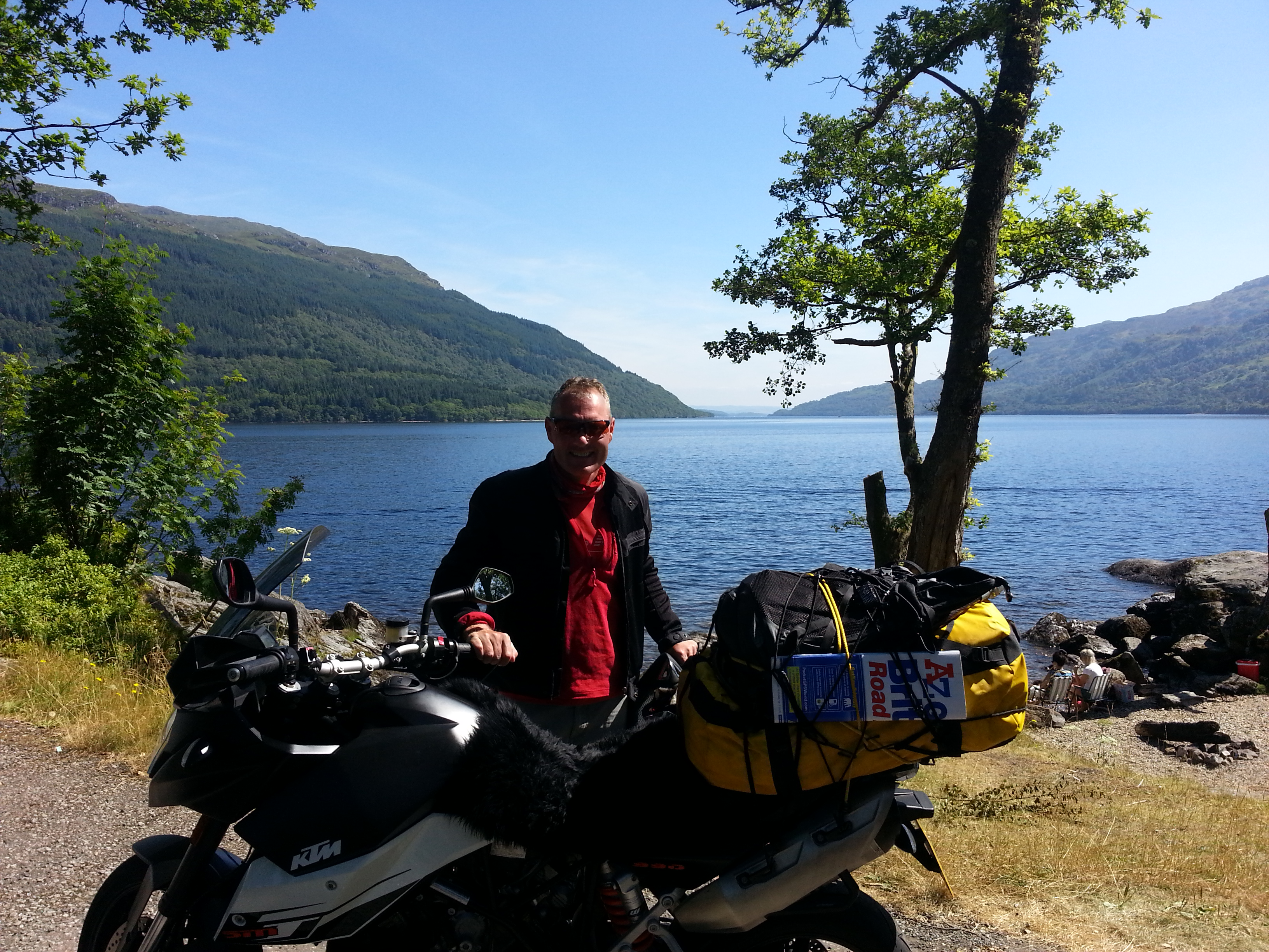 From the Lakes I rode to Scotland and passed Glasgow to Loch Lomond