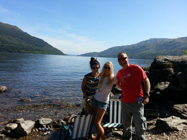 Sun, warm water and pretty girls... yes its Scotland.