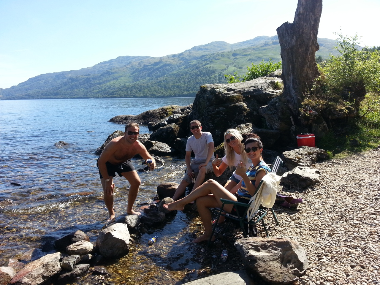 The guys I met at Loch Lomond camping by the water and enjoying the summer of 2013.
