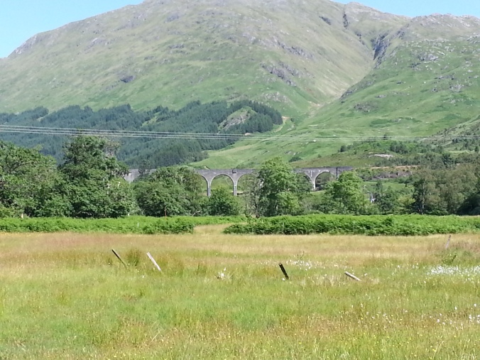 The viaduct bridge shown in the Harry Potter movie near Glenfinnan