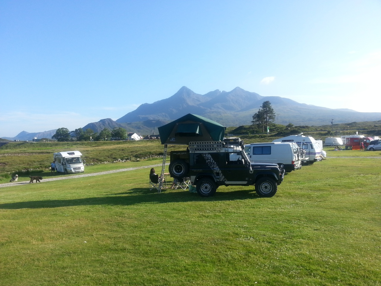 I am still not entirely sure what these German tourists with a safari tent on top of their Landrover were expecting to see in north west Scotland...