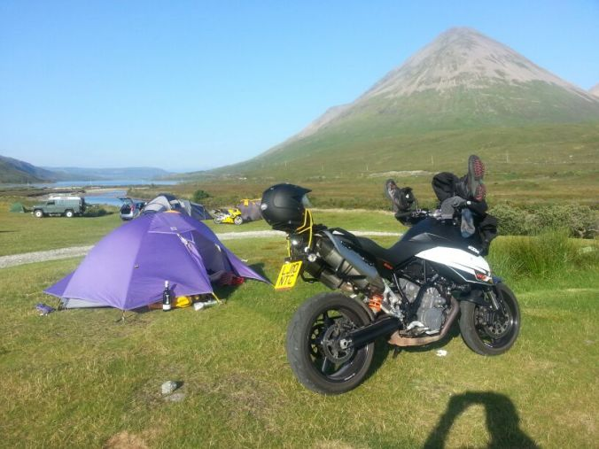 Camping on Skye