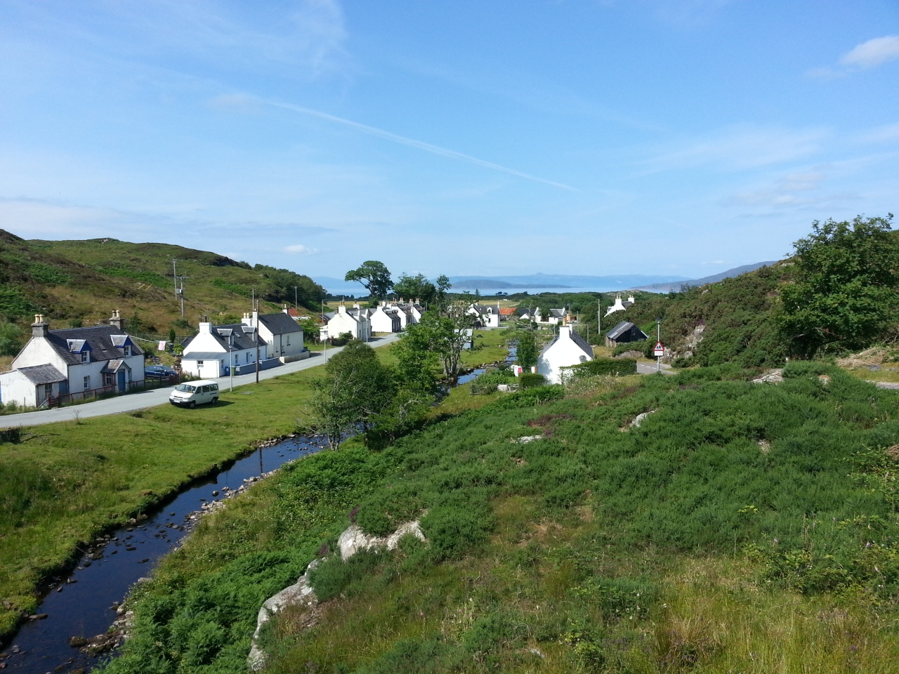 I rode many miles along the sea coast and along the many lochs of west Scotland. Passing through picturesque villages and small towns all the way through the Highlands and to the north west point a