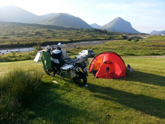 Fellow bikers from Canada... They had very nice kit... a BMW F800GS with all the accessories, great tent and good camping gear. Always something to learn from fellow adventurers.