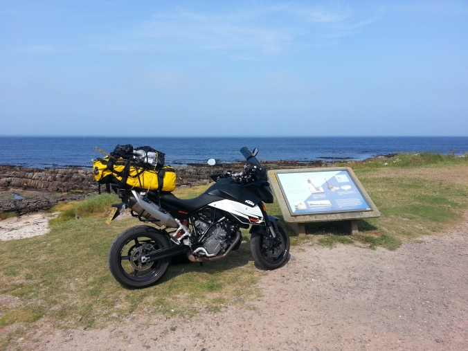 I then rode along the north coast of Scotland to the most northerly part of mainland Britain, John O'Groats. I then turned south and rode down