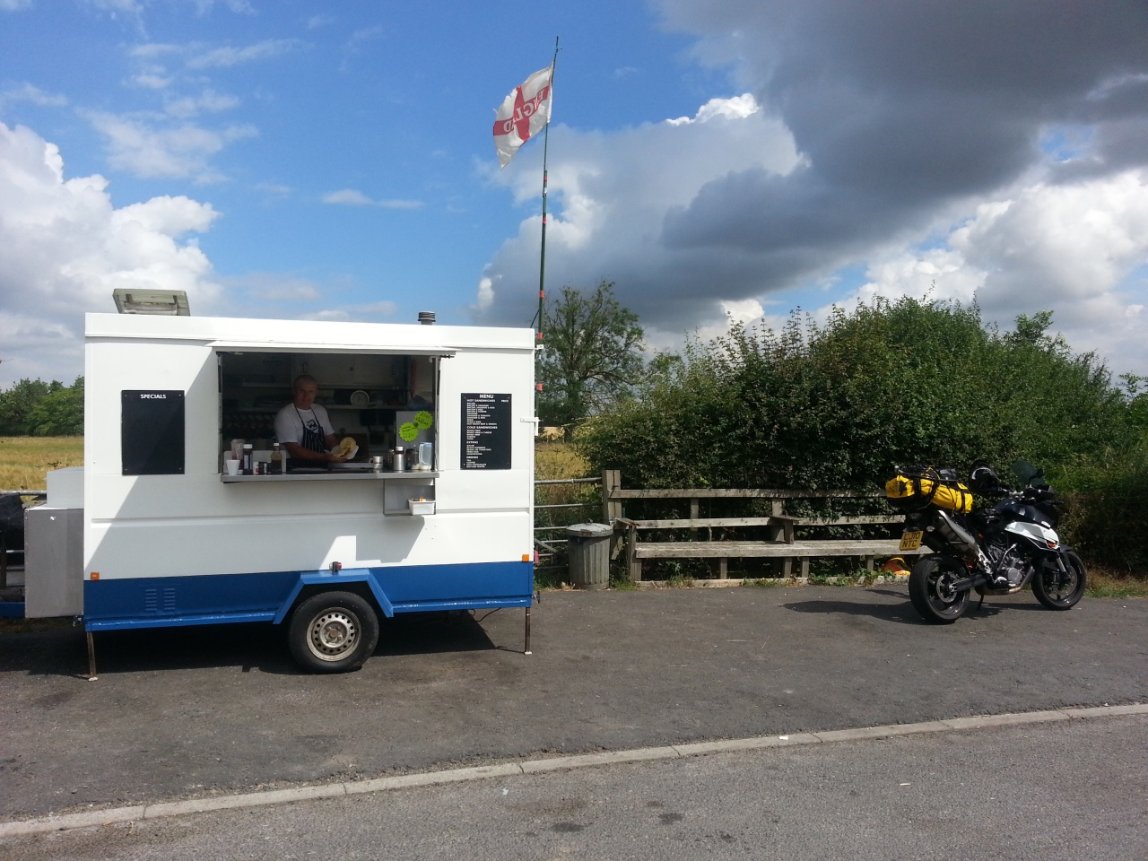 Has to be done .... a road side fry up on road between York and Harrogate.