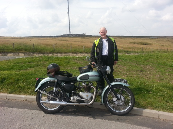 One of many new friends I made on my trip. Riding a Classic Triumph Tiget which he had since new.  (Derbyshire ...High Peak)