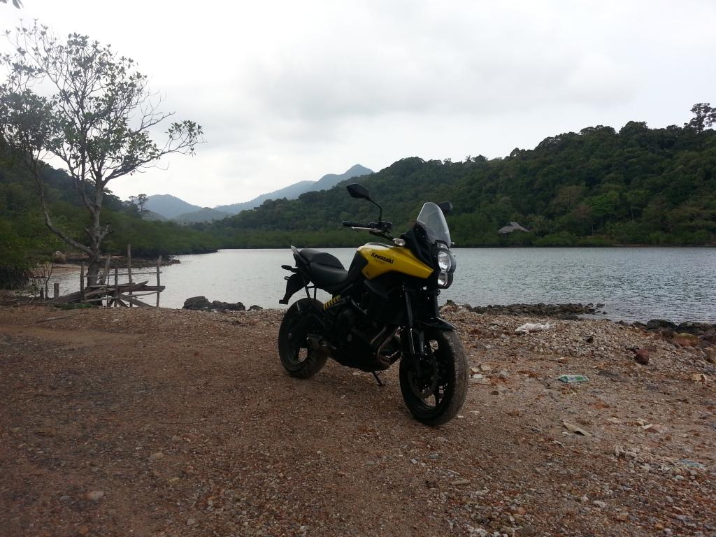Exploring around the island... good bike