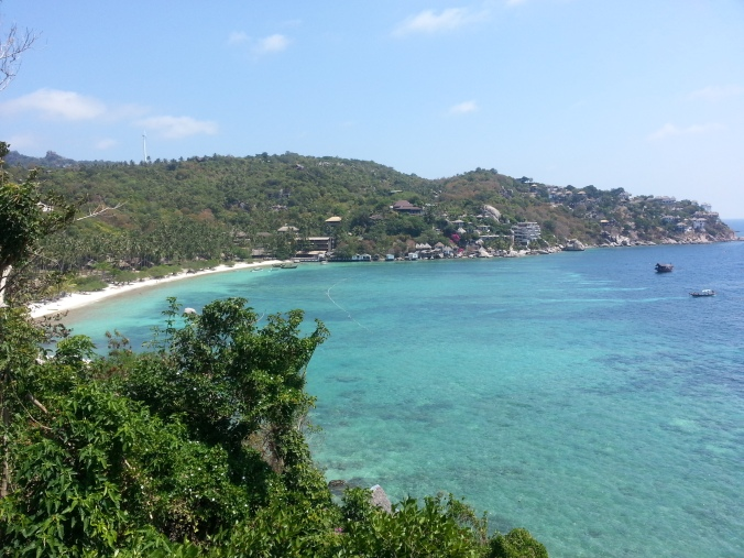 Koh Tao... lovely beaches. This is near where British tourists were murdered. Thai police eefed it up and bashed up some Burmese to confess... why I am surprised
