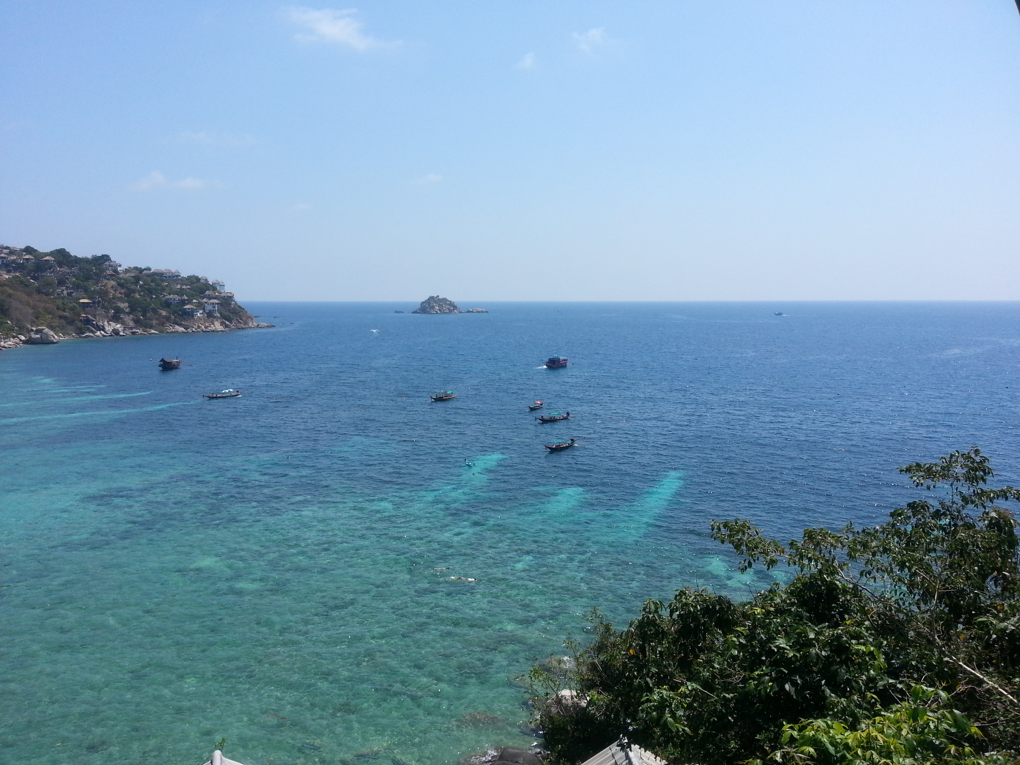 Dive boats and divers... big business on Koh Tao