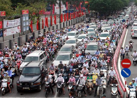 Traffic madness in Bangkok