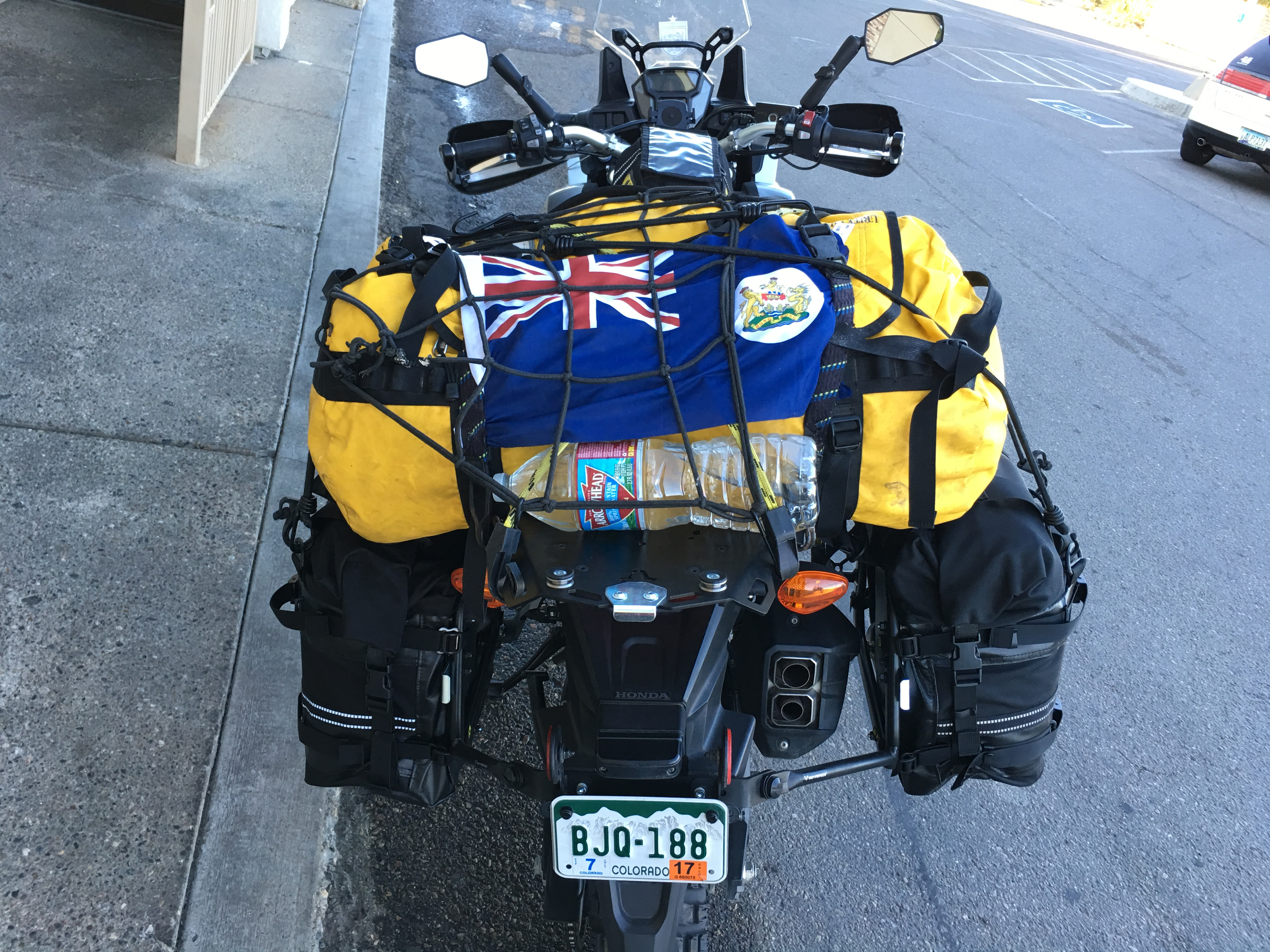 Honda Africa Twin Loaded Upu2026 And A Former Hong Kong Flag For Good Measure